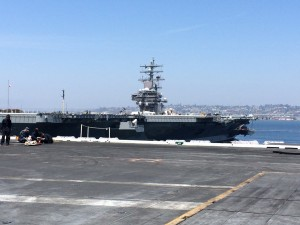 USS Ronald Reagan from the deck of the USS Carl Vinson