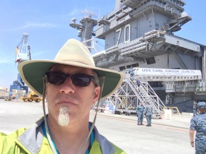 Obligatory selfie in front of the USS Carl Vinson
